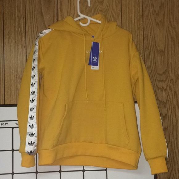 adidas hoodie yellow tnt